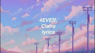 Clairo - 4EVER // lyrics