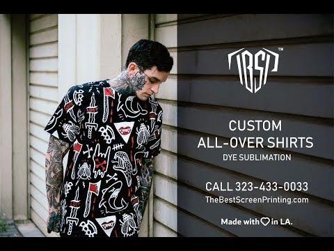 Custom All-Over Shirt Printing – Los Angeles, CA 323-433-0033