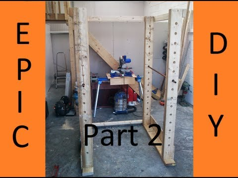 How to make Gym Power Rack Part 2