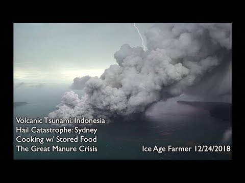 Volcanic Tsunami Indonesia * Hail Catastrophe Sydney * Cooking w Preps * the Great Manure Crisis
