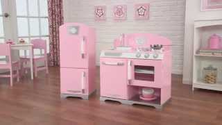 KidKraft Retro Kitchen Wooden Playset (Pink) | 53160