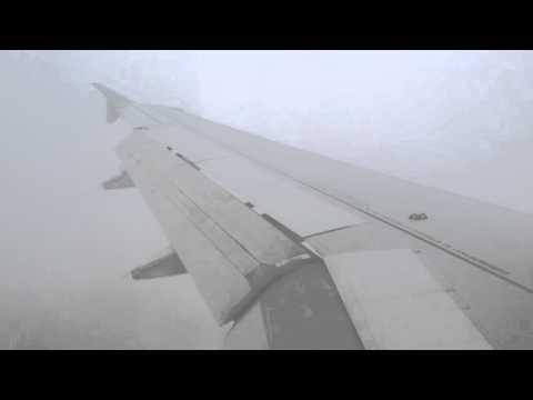 Air France A319 Winter Approach and Landing at Moscow Sheremetyevo airport!