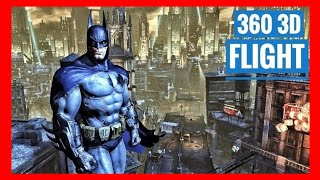 VR 360 3D Batman VR Arkham Flight POV 180° [Google Cardboard VR180] Virtual Reality Video 180 VR 3D