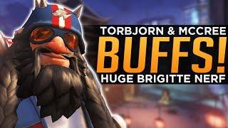 Overwatch: Torbjorn & McCree BUFFS! - Brigitte NEW Stun Explained