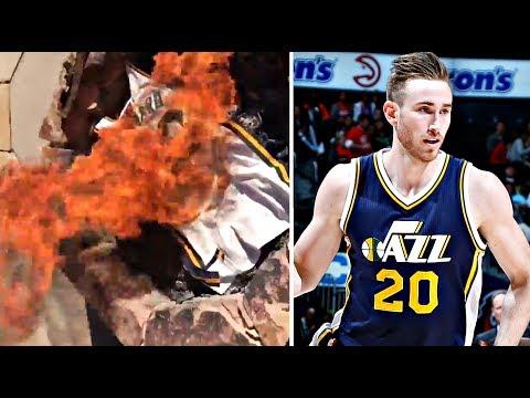 Utah Jazz Fans Burn Gordon Hayward's Jersey After Signing With Boston Celtics