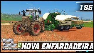 NOVA ENFARDADEIRA NA FAZENDA!   FARMING SIMULATOR 17 PLATINUM EDITION #185 [PT-BR]