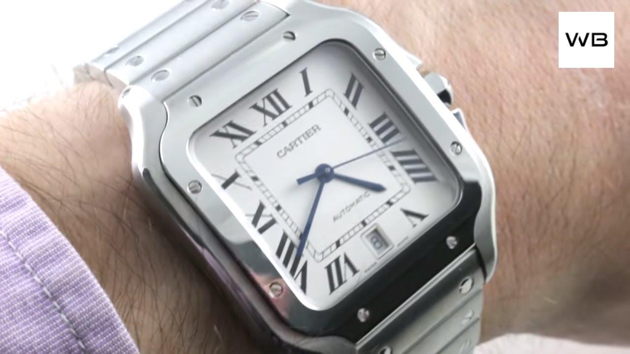 ce2df6684 2018 Cartier Santos Large STEEL SmartLink & QuickSwitch WSSA0009 Santos de  Cartier Watch Review