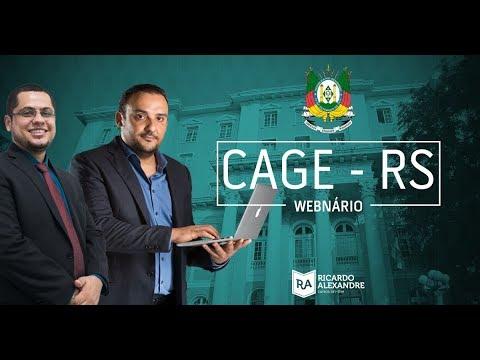 Análise do Edital da Controladoria e Auditoria Geral do Estado - CAGE-RS