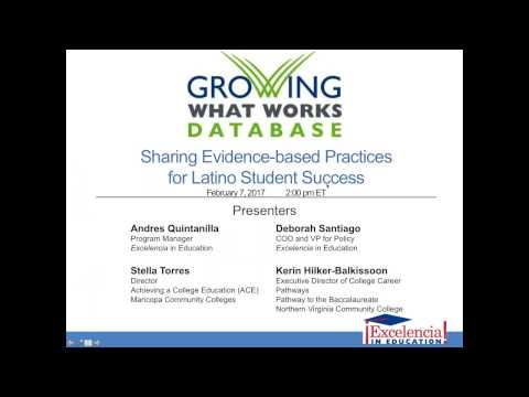 Growing What Works   Sharing Evidence Based Practices for Latino Student Success