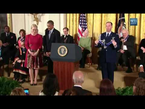 Meryl Streep Honored by President Obama with The Presidential Medal of Freedom