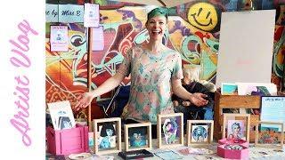 Artist Vlog #14 | My first market stall!