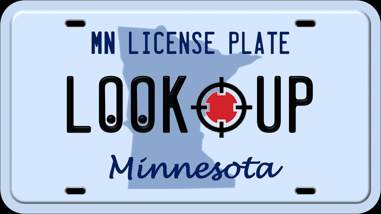 How to Reverse Search a Minnesota License Plate Number - YouTube
