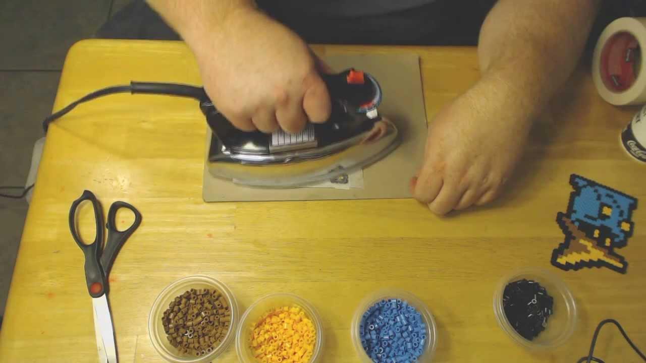 How To Iron Perler Bead Black Mage Tutorial Youtube