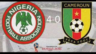 Nigeria 4 Cameroun 0. Rien n'est perdu pour nous.