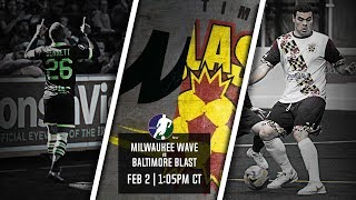 Milwaukee Wave vs Baltimore Blast