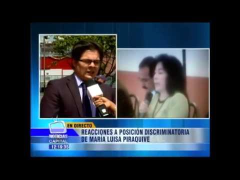Reacciones a posición discriminatoria de María Luisa Piraquive