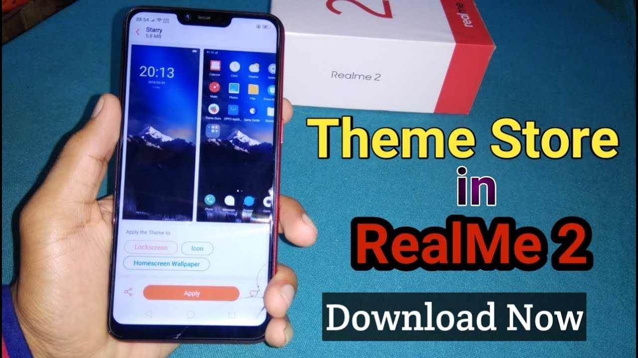 How to Download Theme Store in RealMe 2 (Free) Unlimited Themes & Wallpapers