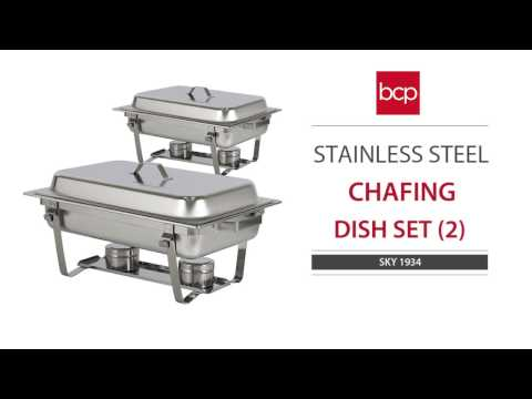 SKY1934 Quart Stainless Steel Full Size Tray Buffet Catering