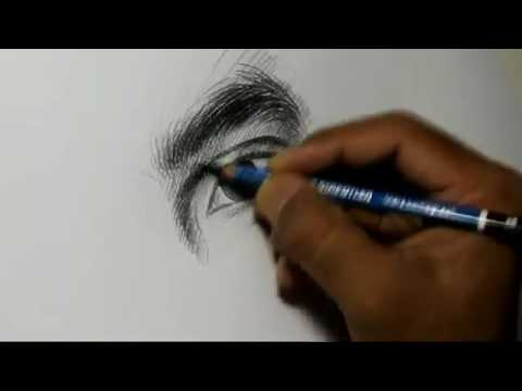 Pencil drawing artist alamgir at work