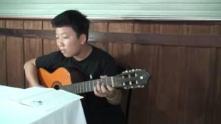 """Bé Tiến Lộc chơi guitar bài """"Niệm phút cuối - Ngô Thuỵ Miên"""""""