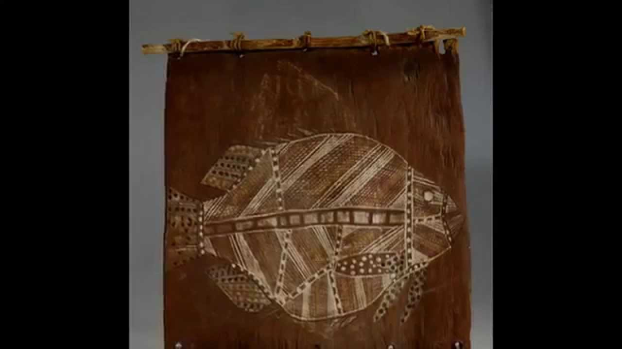 Aboriginal bark painting cross hatched fish youtube for X ray painting