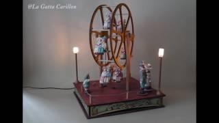 Carillon giostra per bambini e adulti - Ruota Panoramica da collezione (Melodia: Can Can)