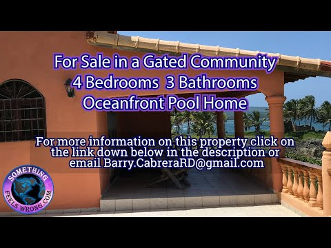For Sale in a Gated Comminuty an Oceanfront Pool Home SFW