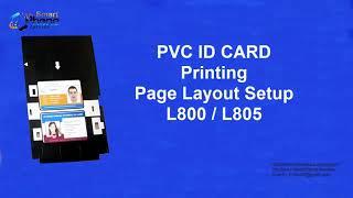 Epson L800 and L805 Printer PVC ID Card Plastic Id Card Printing A to Z Tut