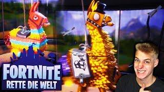 LEGENDÄRE Lamas & weitere Lamas öffnen! Fortnite Rette die Welt Part 4 Deutsch
