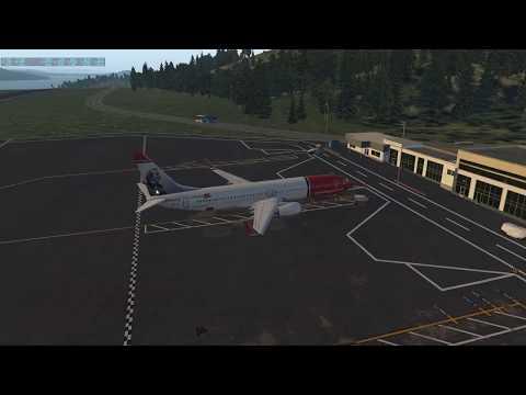 X-Plane 11 737 Zibo Kristiansund to Oslo Nor Sub - PakVim