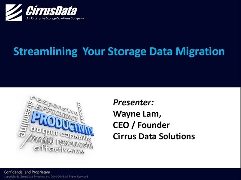 Streamlining Your Storage Data Migration - Webcast