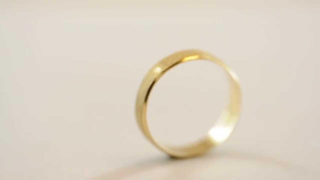 e7fdd861300 Aliança de casamento em ouro 18k - Modelo True Love - YouTube