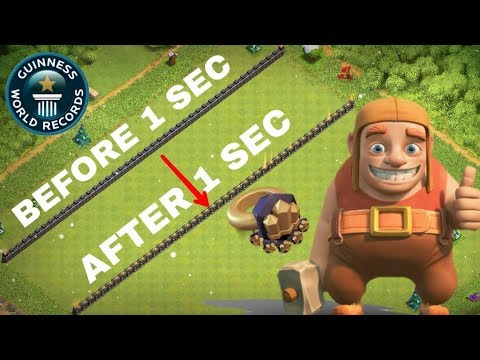 CLASH OF CLANS TH9 WORLD RECORD UPGRADING WALL W/ WALL RINGS IN COC