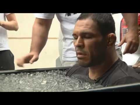 UFC MMA figthers taking ICE BATHS! Funny Reactions