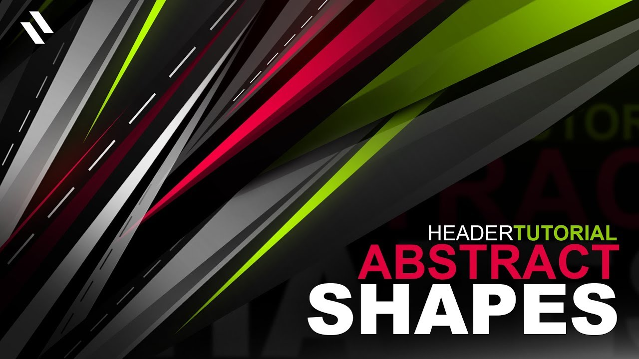 Tutorial How To Make An Insane Abstract Shapes Header