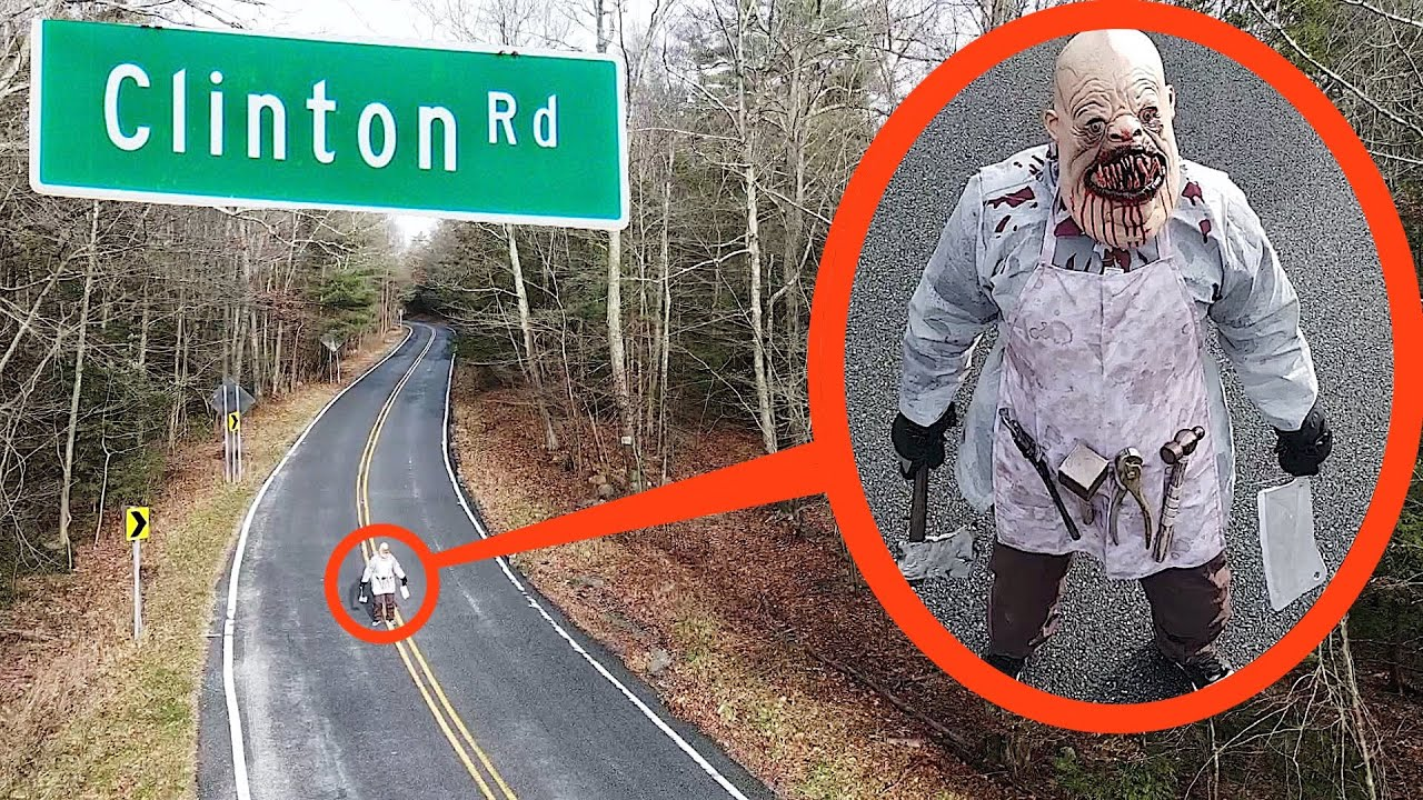 Download when your drone see's this on Haunted Clinton Road DO NOT try to pass him! Drive away FAST!