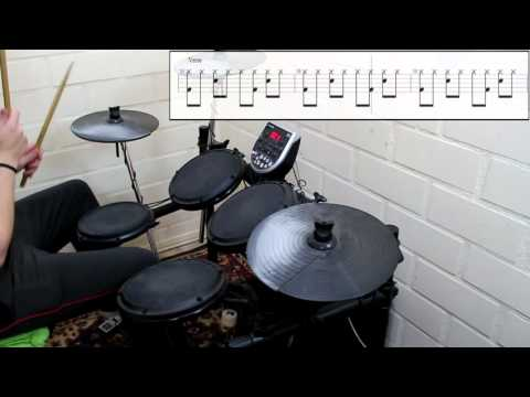 Weezer - Say It Ain't So (Drum Cover) (Play Along Tabs In Video)