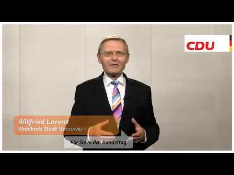 Wilfried Lorenz CDU-Bundestagskandidat für Hannover Stadt I - Wahlkreis 41 - www.lorenz-cdu.de