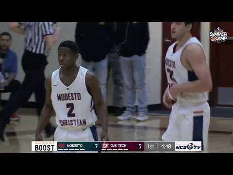 Modesto Christian Vs Oakland Tech High School Boys Basketball LIVE 1/11/20