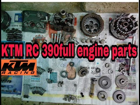 KTM RC 390 full engine rebuild part1by Manoj Gupta Nepal in Hindi