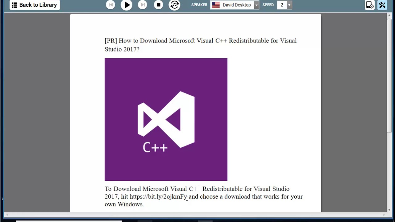 Visual Studio 2017 Redistributable