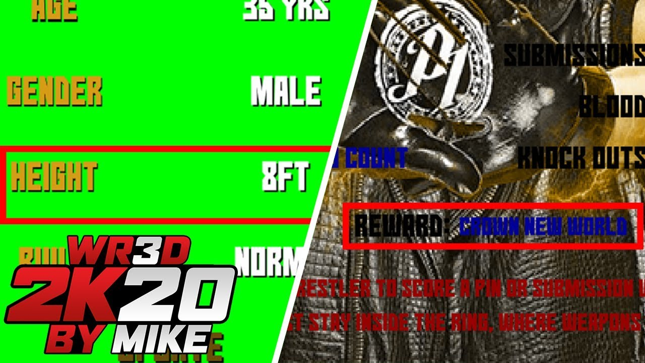 WR3D 2K20 by Mike- Title Match in Exhibition & More Heights