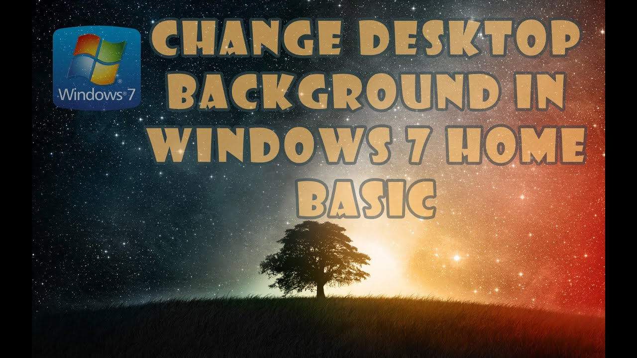how to set default background in windows 7