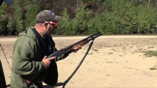 My good friend and great instructor greg cruz, shows how, with practice, you can run the pump gun faster.