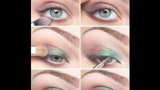 Светлый макияж для зеленых глаз