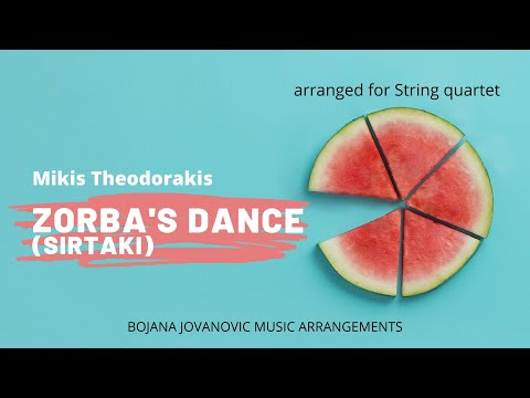 SIRTAKI Zorba's dance (Mikis Theodorakis) SHEET music for STRING quartet