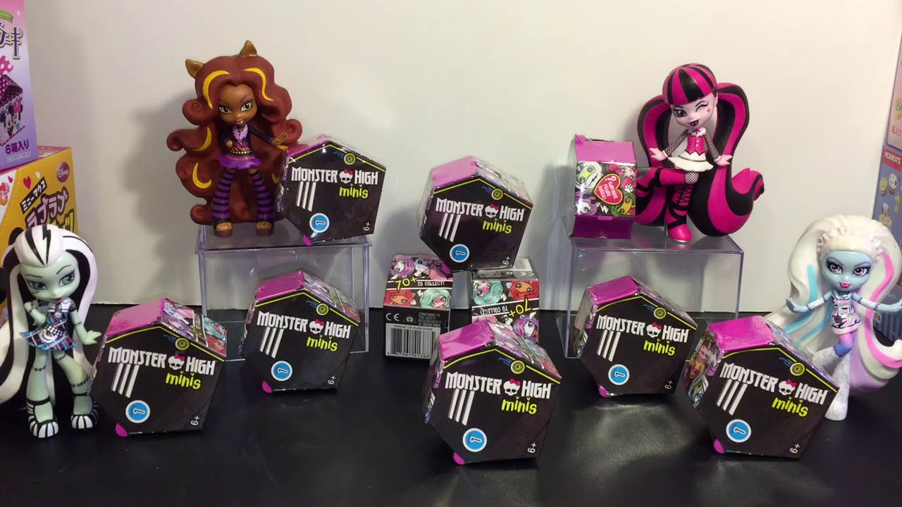 Monster High Mini Doll Blind Boxes Toy Opening Youtube