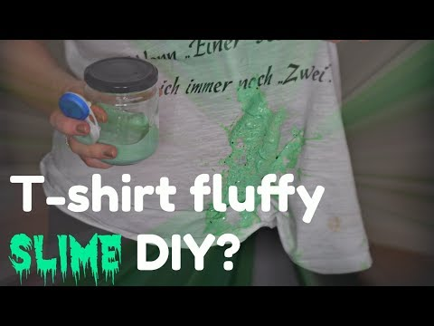 T-shirt fluffy slime DIY? 🙊 (Føroyskt slím) 🇫🇴