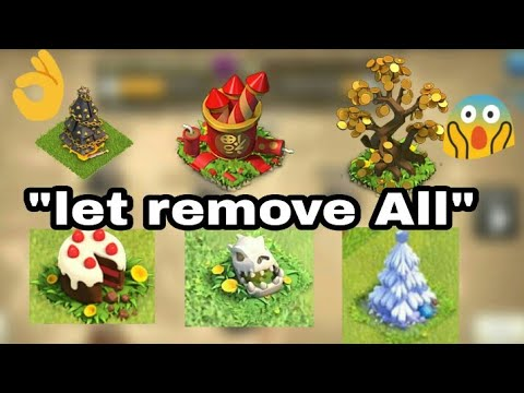"Remove All ""obstacle"" 😨😱in Clash of clan 