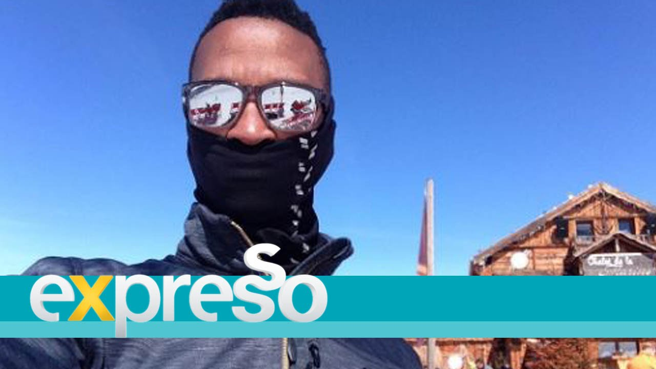 Katlego goes skiing at club med, val thorens